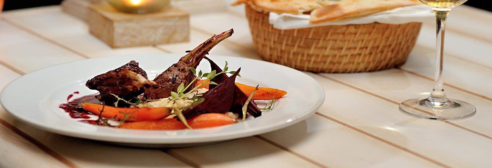 Dining at Driftwood Inn Hotel, California